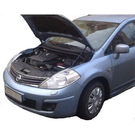 Упоры капота на Nissan Tiida 01-01