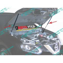 Упоры капота на Nissan X-Trail UNIXTR021