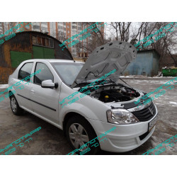 Упоры капота на Renault Logan KU-RE-LO00-02