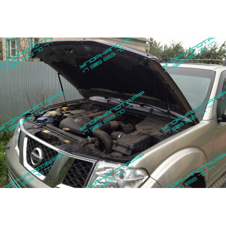 Упоры капота на Nissan Navara BD09.03
