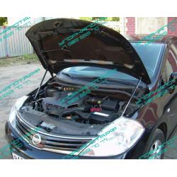 Упоры капота на Nissan Tiida KU-NI-TI00-02